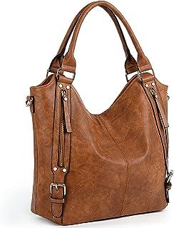 UTO Damen Handtasche Schultertasche Shopper PU Leder Handtasche Fashion Gross Capacity Bags Pink