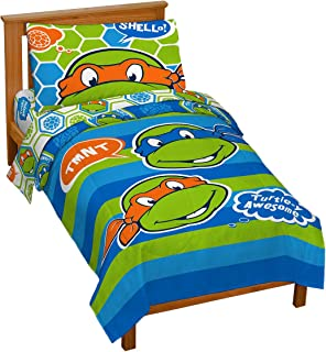 Jay Franco Nickelodeon Teenage Mutant Ninja Turtles 'Turtley Awesome' Toddler Bed Set