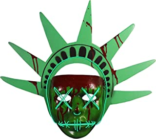 Trick or Treat Studios The Purge: Election Year Lady Liberty Light Up Mask, Officially Licensed