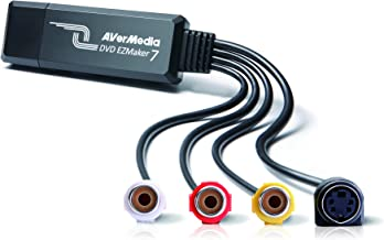 AVerMedia EZMaker 7, Standard Definition USB Video Capture Card , Analog to Digital Recorder, RCA Composite, VHS to DVD, S...