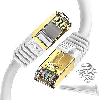 كابل إيثرنت 2 متر Cat 8 كابل Zosion عالي السرعة 2000MHZ 40GBPS شبكة الإنترنت LAN محمي موصل RJ45 متين مطلي بالذهب لألعاب ال...