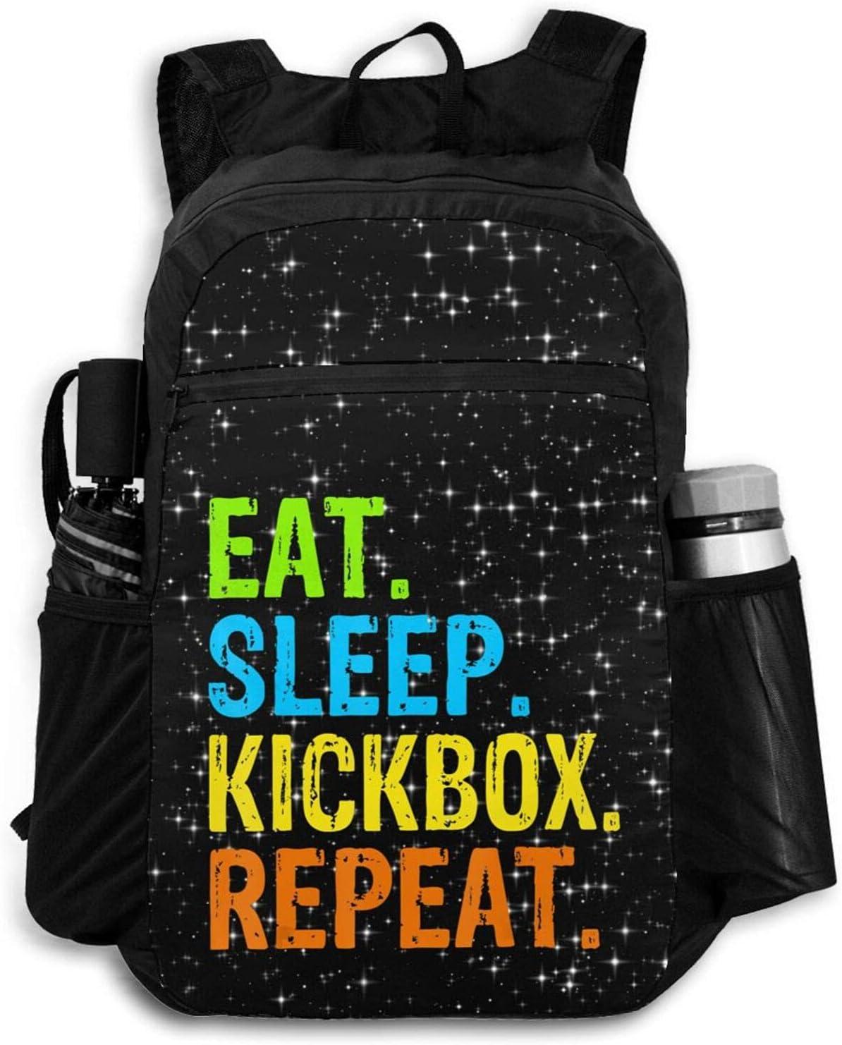 Zolama Eat Sleep Kickbox Repeat Backpacks Men shopping Women for Pac Cute Opening large release sale