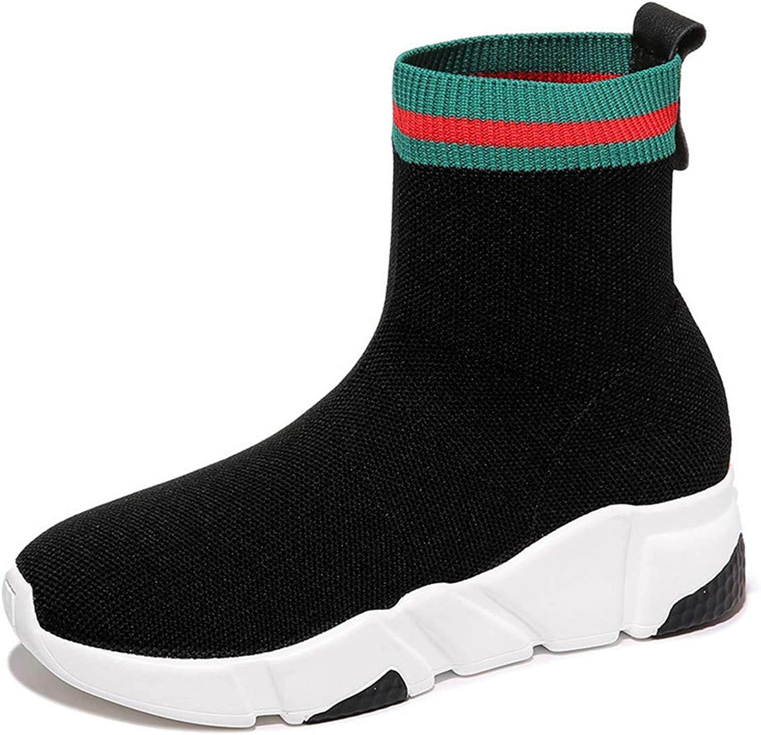 SFSYDDY Popular shoes New Women's shoes Elastic Comfort Sports shoes Leisure Muffin Socks shoes