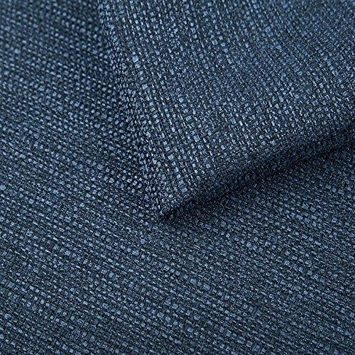 Pure Textilien Webstoff Strukturstoff Portland - Möbelstoff Polsterstoff Uni Meterware - blau 81
