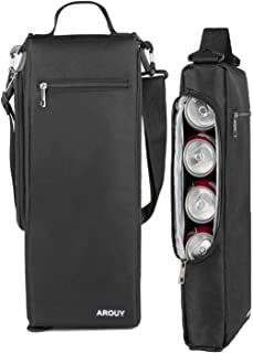 AROUY Golf Cooler Bag - Golf Accessories for Men and Small Soft Cooler Bags Insulated Beer Cooler Holds a 6 Pack of Cans or Two Bottles of Wine