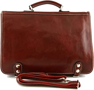 Cartella Professionale In Vera Pelle Con Tasche Interne Colore Rosso - Pelletteria Toscana Made In Italy - Business