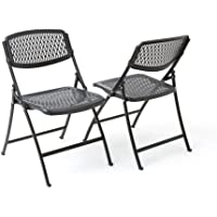 4-Pack Mity Lite Flex One Folding Chair (Black)