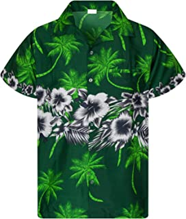 Camisa Hawaiana enrrollada | Hombres | XS-6XL | Manga Corta | Bolsillo Frontal | Hawaiano-Imprimir | Las Flores | Impresió...