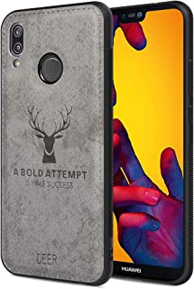 Huawei P20 Lite Waterproof Case Shockproof Snow-Proof Dirt-Proof Full Body Phone Protector Cover for Huawei P20 Lite with 3D Imprinted Deer Huawei P20 Lite Cellphone Case (Gray)