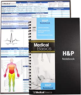 H&P Notebook - Medical History and Physical Notebook, 100 Medical templates with Perforations