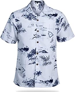 Mens Hawaiian Shirt Regular Fit Hawaiian Shirts for Men with Quick to Dry Effect