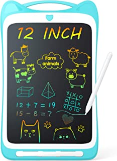 Jasonwell Kids Drawing Pad Doodle Board Colorful Toddler Scribbler Board Erasable LCD..