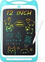 """Jasonwell Kids Drawing Pad Doodle Board 12"""" Colorful Toddler Scribbler Board Erasable LCD Writing Tablet Light Drawing Boa..."""
