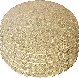 6 bases de cartón para tartas, respetuosas con el medio ambiente, redondas, de 8 pulgadas, doradas y de doble cara