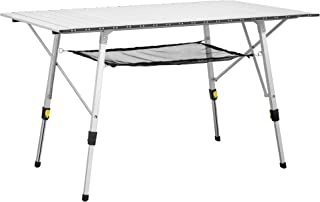 Uquip Variety L - Mesa para acampada, aluminio, 120 x 70cm, altura regulable