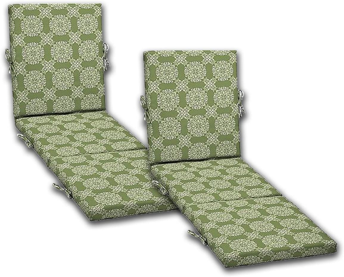 Comfort Max 78% OFF Classics Inc. Set of 2 Patio wholesale Chaise Outdoor Cushions 21