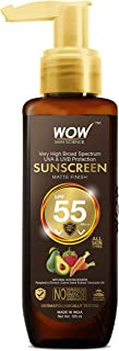 WOW Skin Science Sunscreen Matte Finish - Spf 55 Pa+++ - Very High Broad Spectrum - Uva &Uvb Protection - Quick Absorb - N...