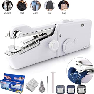 Handheld Sewing Machine Portable Mini Sewing Machine Cordless for Quick Stitch Home Handy..