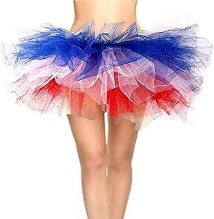 CahcyElilk Women's Mini Puffy Bubble 6-Layered Ballet Run Halloween Tutu Costume