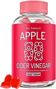 (2X Power) Organic Apple Cider Vinegar Gummies | Raw Apple Cider Vinegar with The Mother, Unfiltered AVC Gummies| Digestion, Immune Boost, Bloating Relief for Women | Pure Apple Vinegar Gummy Vitamins