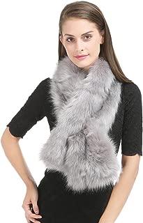 Women's Winter Faux Fake Fur Straight Wedding Halloween Party Custume Accessory Scarf Wrap Collar Shawl Shrug