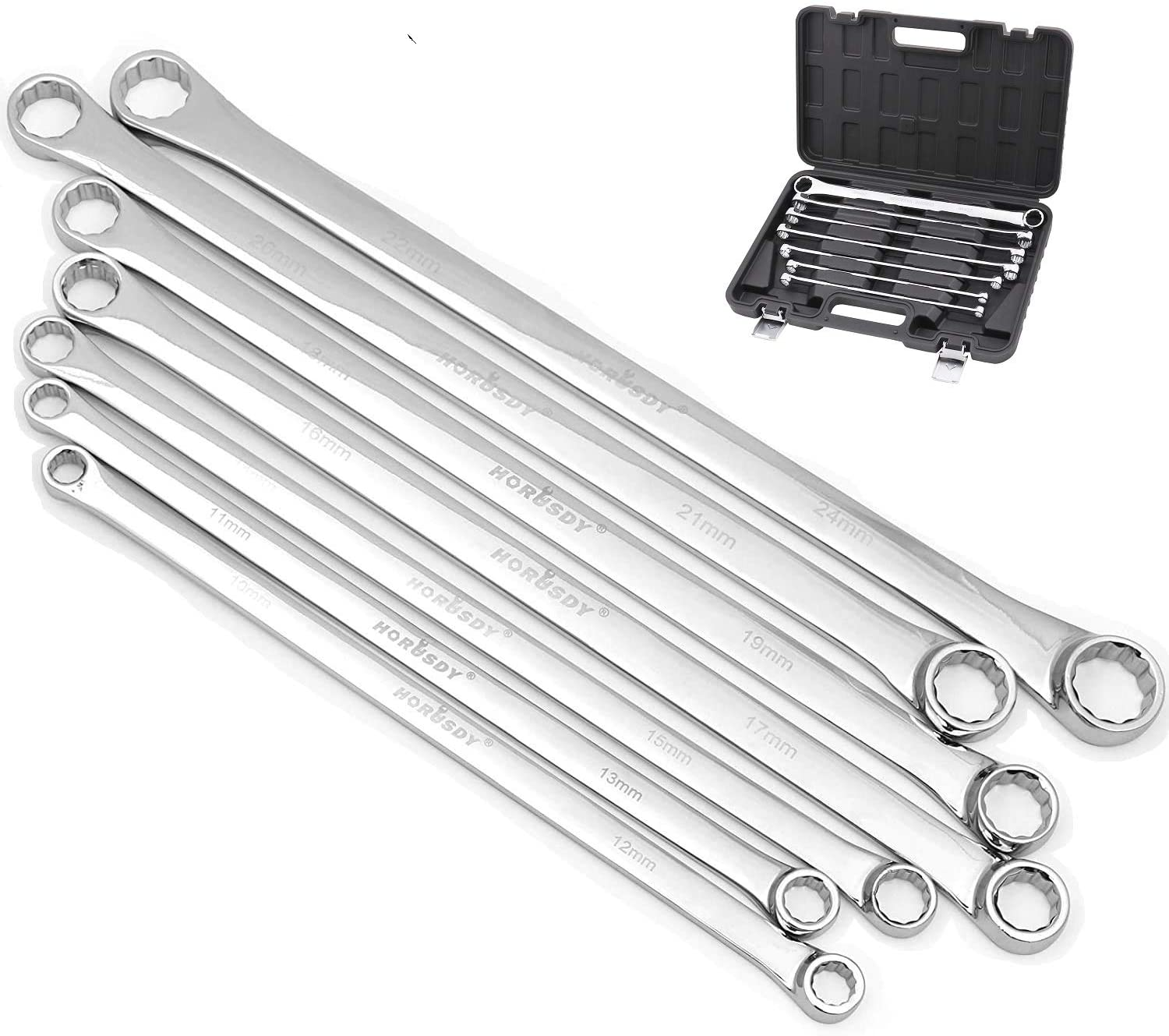 shipfree HORUSDY 7-Piece Extra Long Fashion Double Box Set End CR-V Less Wrench