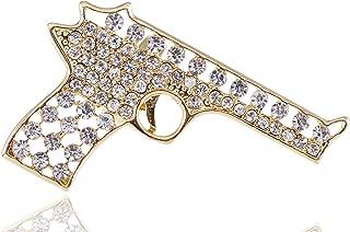 Alilang Adjustable Clear Crystal Colored Rhinestones Cutout Gun Pistol Ring