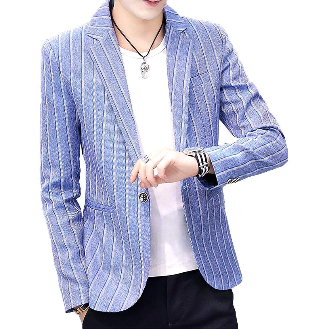 微生物再現するぴったり[Agree With(アグリーウィズ)] テーラードジャケット カジュアル ファッションスーツ ビジネス ストレッチ メンズ