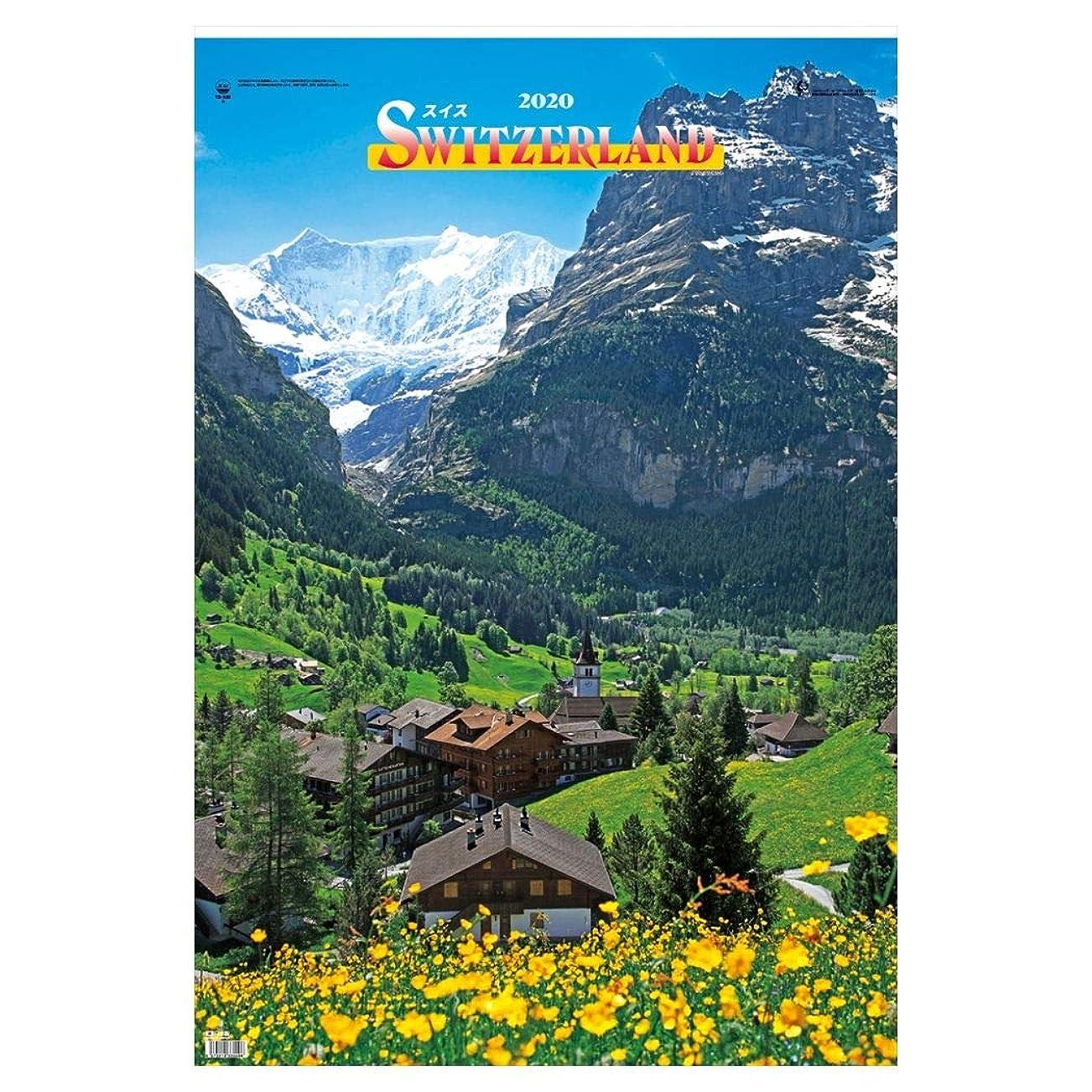 演じる言い聞かせる応答[壁掛けカレンダー 2020]フィルム フォト/DX スイス SWITZELAND 大判