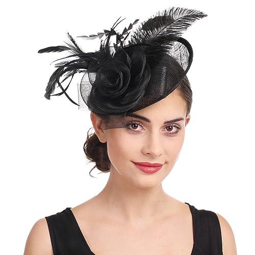 055c240562c87 Sinamay Flower Feather Headband Fascinator Wedding Headwear Ladies Race  Royal Ascot Pillbox Wedding Cocktail Tea Party
