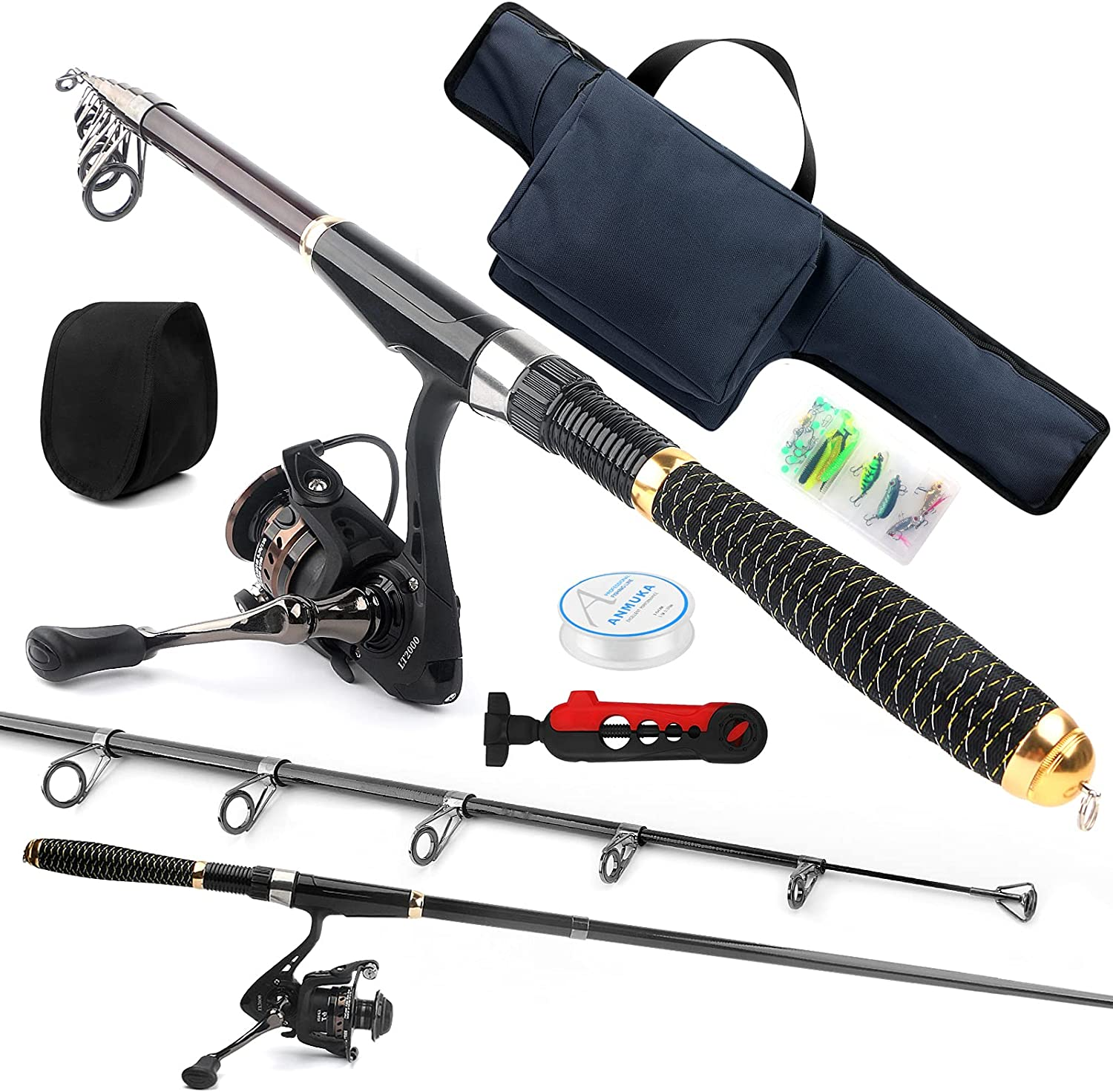 Telescopic Fishing Outstanding Rod Reel Fiber Combos Reservation Fishi Carbon