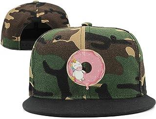 TTZHI Camouflage Baseball Cap For Men WomenUnicorn Donut Birthday Adjustable Snapback Flat Hat