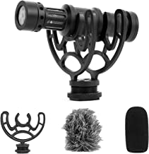 TKOAIY Universal Video Microphone Camera Microphone Mic Shotgun,with Shock Mount, Deadcat Windscreen, Cable for iPhone Android Smartphones Canon EOS Nikon DSLR Cameras and DV Camcorders