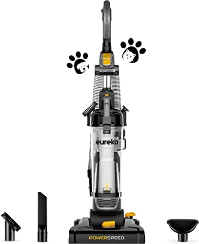 Eureka PowerSpeed Bagless Upright Vacuum Cleaner, Pet Turbo, Black