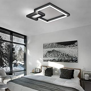 Techo de luz LED, suave cambio de color, luz blanca con 50cm, iluminación de techo, luces pendientes de pasillo, baño, sal...