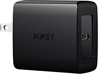 AUKEY USB C Charger with Power Delivery 3.0 18W USB C Wall Charger, Compatible with iPhone 11/11 Pro/Max, AirPods Pro, Google Pixel 2/2 XL, Samsung Galaxy S8 / S8+ / Note8 and More
