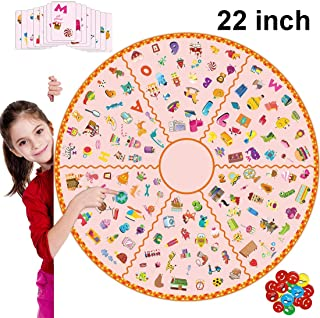 22inches Matching Game Bingo Board Game with Animals Alphabet Numbers Fruits Monsters and More Board Memory Bingo Educational Learn Game for Boys & Girls