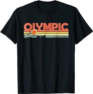 Vintage 1970s Style Olympic National Park Washington TShirt