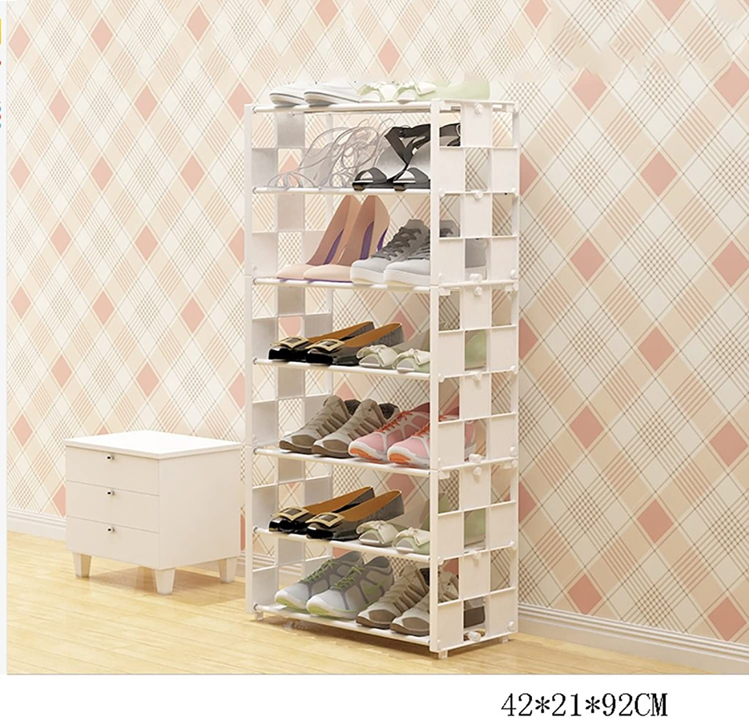 HHQ shoes Racks Multi-Layer Simple Assembly Economical Home Storage Dormitory Bedroom Space-Saving Function Modern Simple shoes Cabinet (color   2)