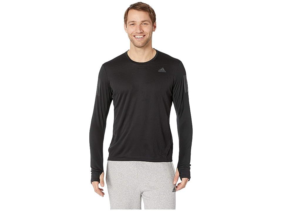 adidas Own The Run Long Sleeve Tee (Black) Men