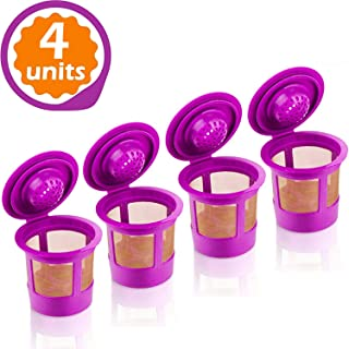 GoodCups 4 Reusable K Cups for Keurig K-Classic, K-Elite, K-Select, K-Cafe, K-Compact, K200, K300, K400, K500, Refillable Kcups Coffee Filters for 2.0 and 1.0 Brewers