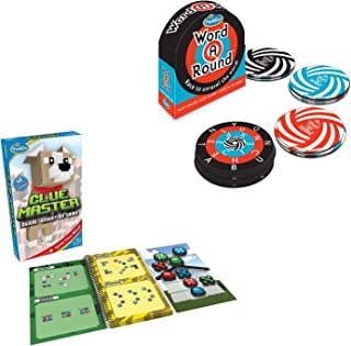 UNK Clue Master Logic Game and STEM Toy - Teaches Critical Thinking Skills Through Fun Gameplay Bundle with Award Winning Fun Card Game for Age 10 and Up Where You Race to Unravel The Word