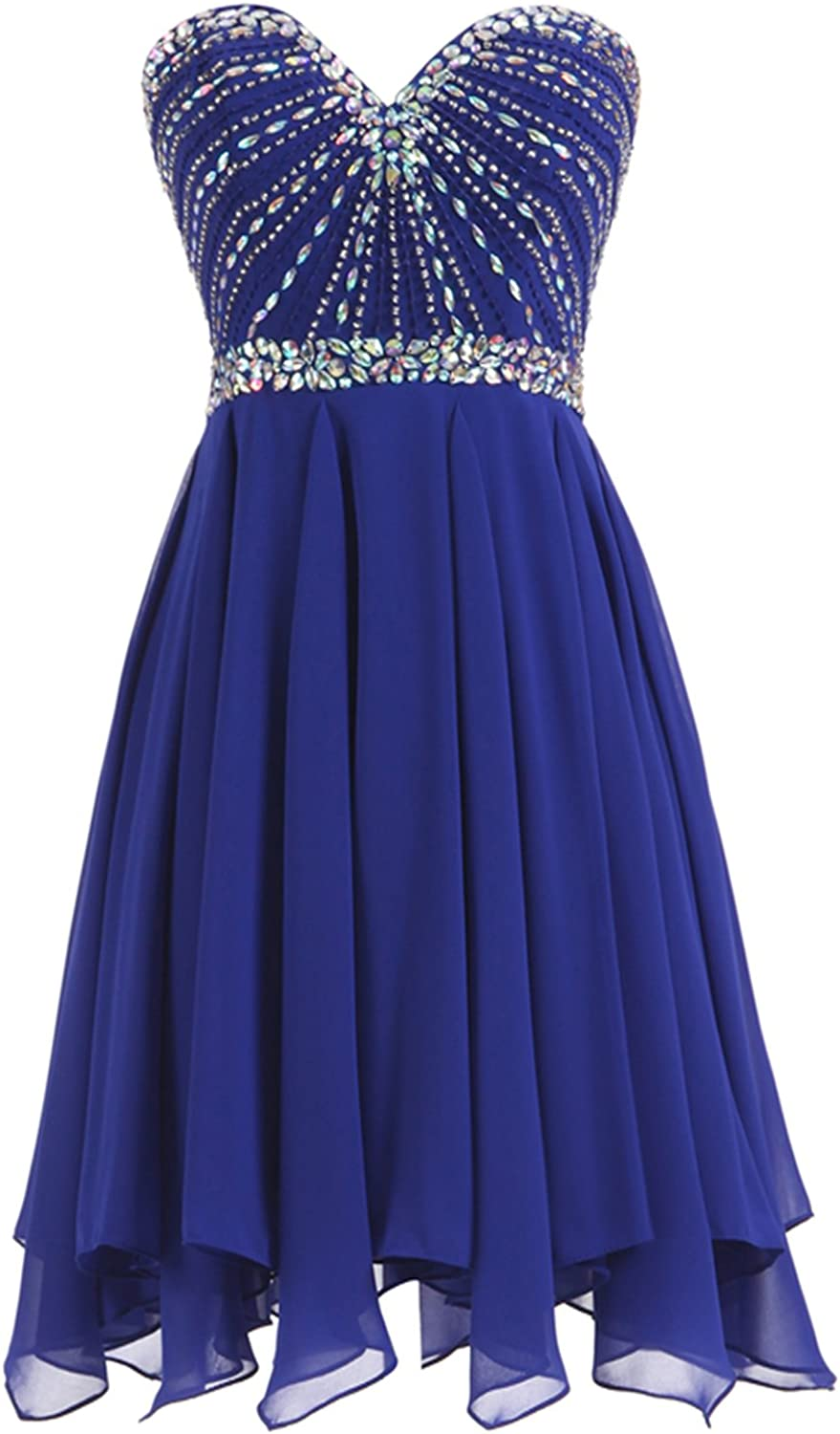 Epinkbridal Crystal Beaded Short Prom Dress Sweetheart Homecoming Dress Party Gowns for Junior