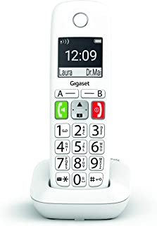 Gigaset E290 - Teléfono Fijo Inalámbrico con Teclas Grandes y Pantalla de Alta Visibilidad, Manos Libres, Compatible con audifonos