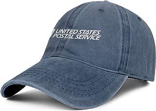 White Logo-Cool Denim Adjustable Snapback Meshback Cap for Mens