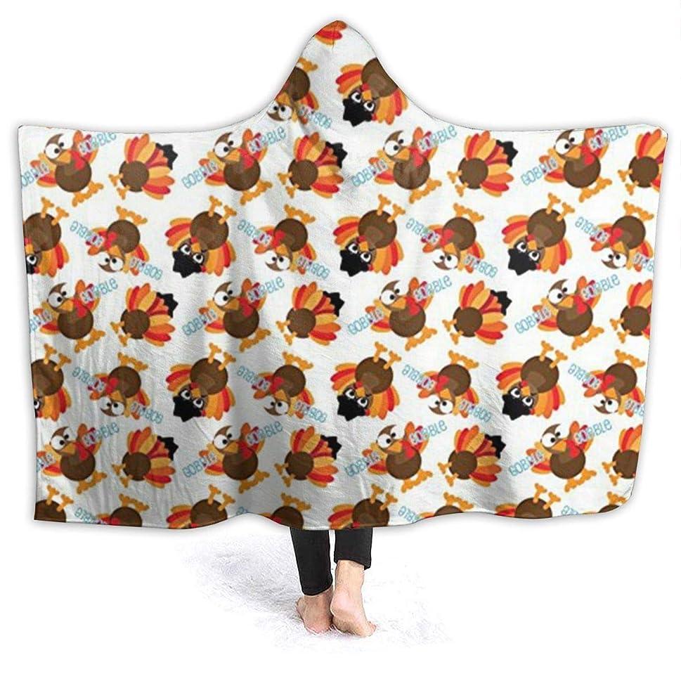 ニュージーランドテンション信条YONHXJLAZ Thanksgiving Funny Turkey 毛布 フード付き ブランケット 大判 タオルケット厚手 オールシーズン快適 軽量 抗菌防臭 防ダニ加工 オシャレ 携帯用,車用,オフィス用