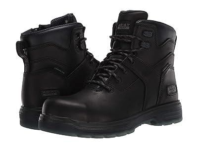 Ariat 6 Turbo Side Zip (Black) Men