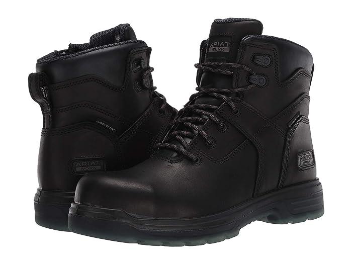 Ariat  6 Turbo Side Zip (Black) Mens Work Boots