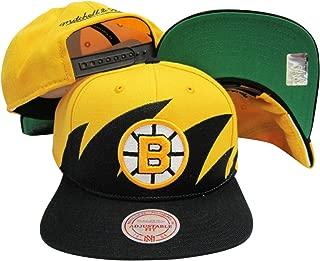 Mitchell & Ness Boston Bruins Snapback Adjustable Plastic Snap Back Hat/Cap