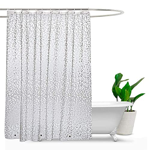 Charmant Shower Curtains Mould Proof Resistant, PEVA Waterproof Heavy Duty Shower  Curtain Liner With Magnets,